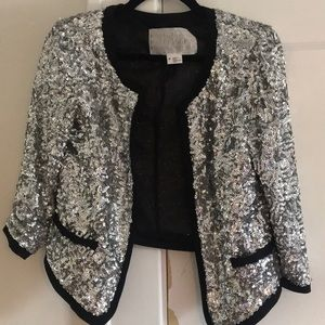 Cropped sequin Urban Outfitters jacket